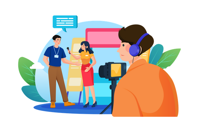 Business Interview Illustration