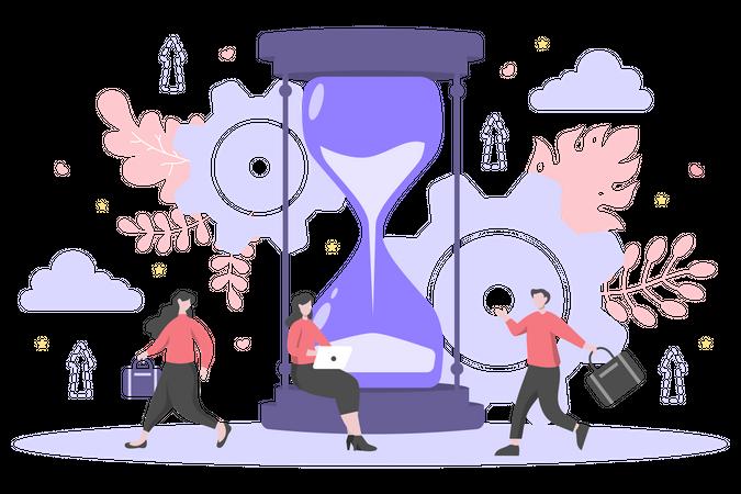 Business launch deadline Illustration