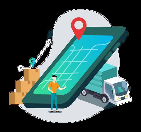 Business Location Illustration