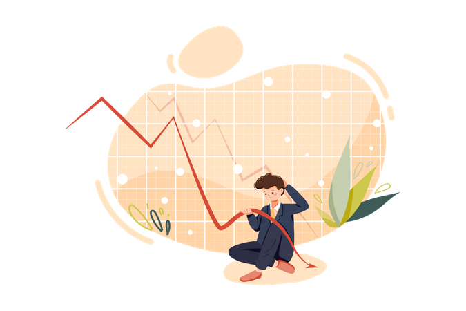 Business loss Illustration