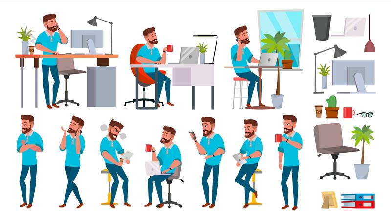 Business Man Character Illustration