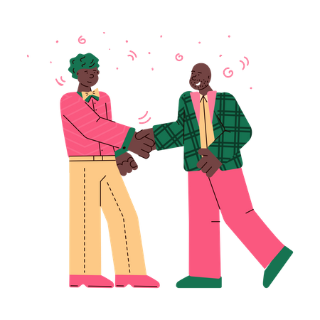 Business man handshaking with each other Illustration