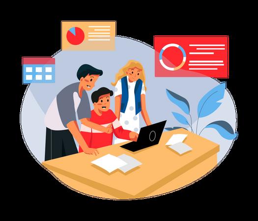 Business management Illustration