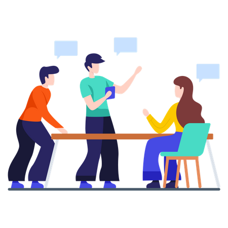 Business Meeting and Discussion Illustration