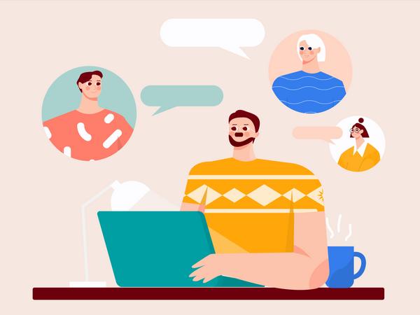 Business meetings Illustration