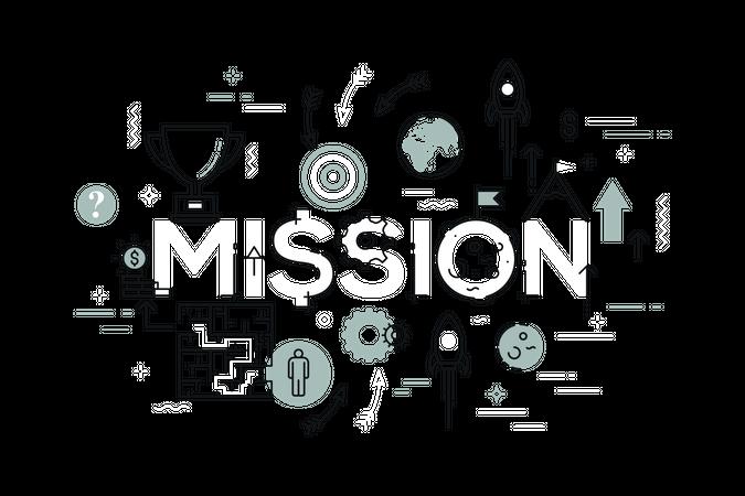 Business mission Illustration