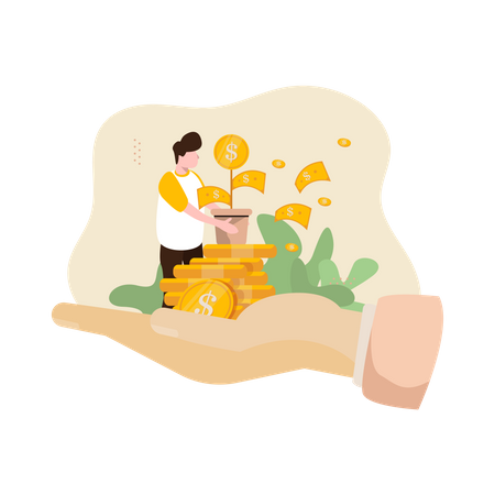 Business Money Invesment Illustration