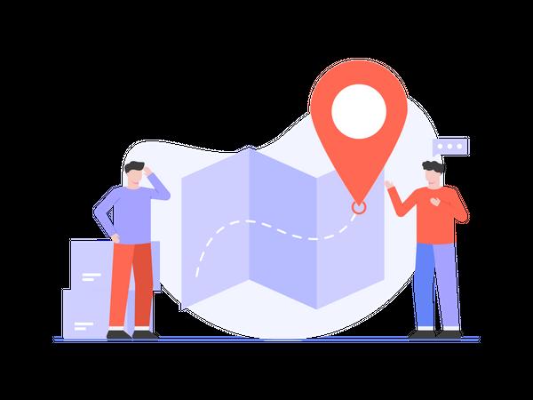 Business New Location Illustration