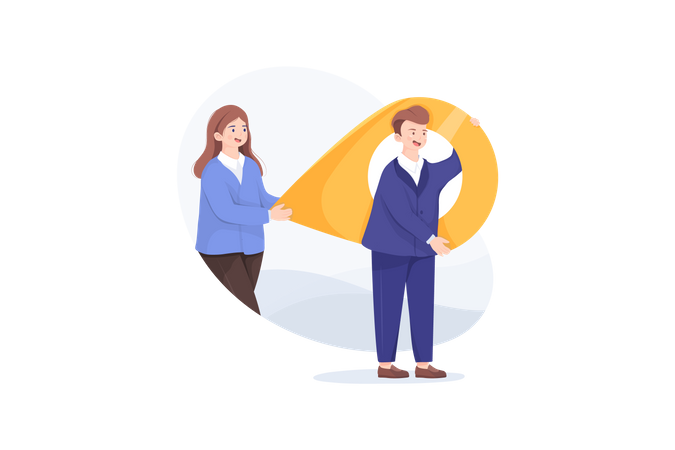 Business or Company location Illustration
