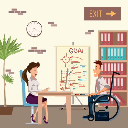 Business Partners Discussing Business goal Illustration
