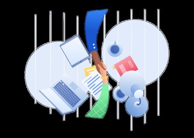 Business Partnership Illustration