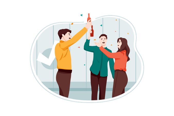 Business Party Illustration