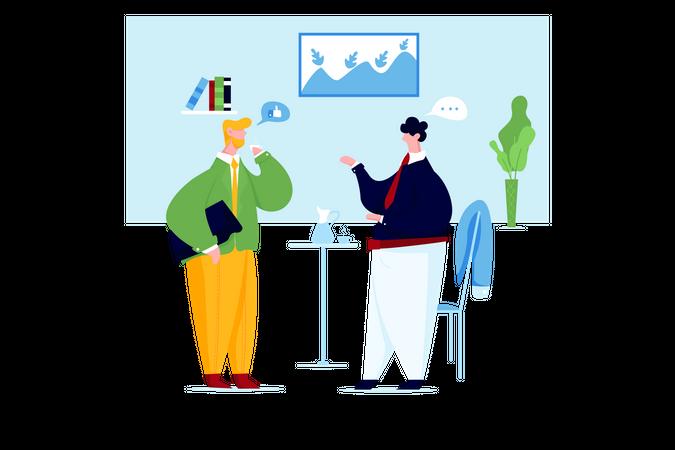 Business people talking Illustration