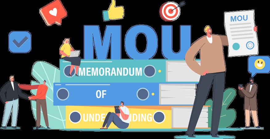 Business people Understanding Documents Illustration