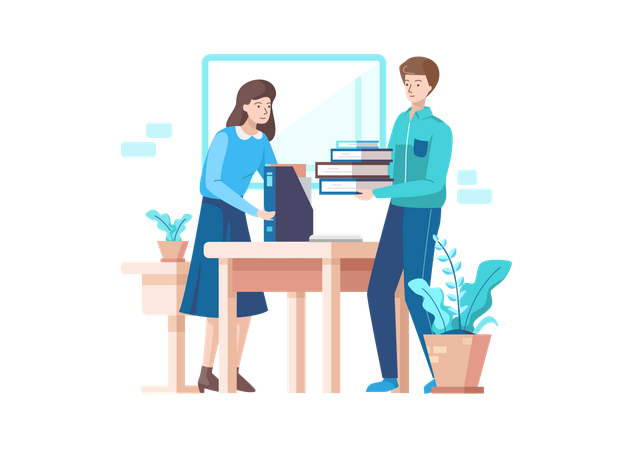 Business person Helping Each Other Illustration