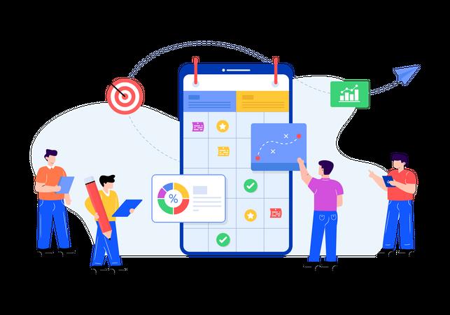 Business Planning App Illustration