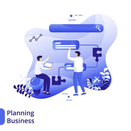 Business Planning Flat Illustration Illustration