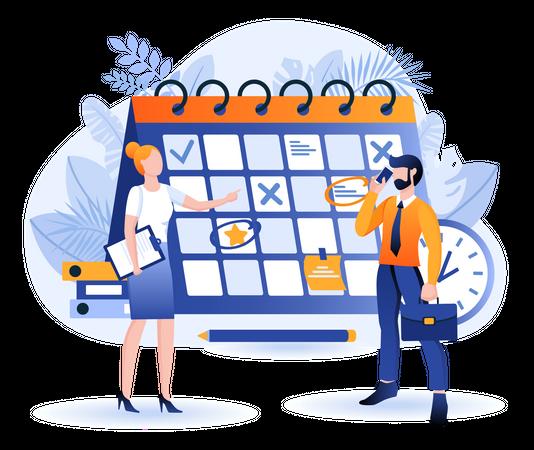 Business Planning Scene Illustration