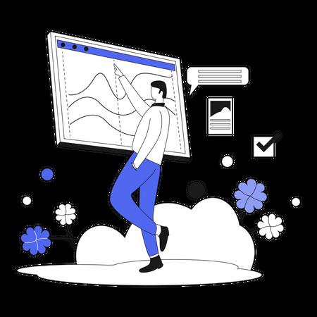 Business Presentation Illustration