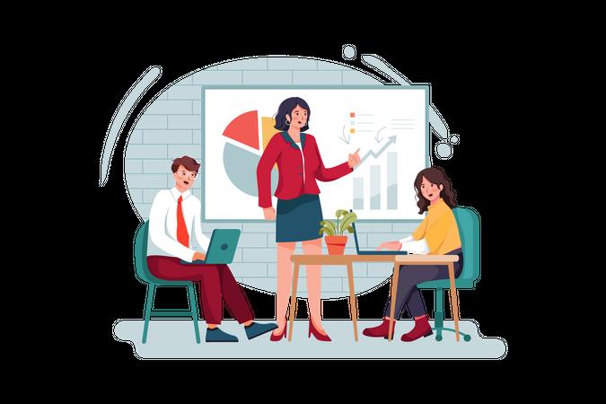 Business presentation and training Illustration