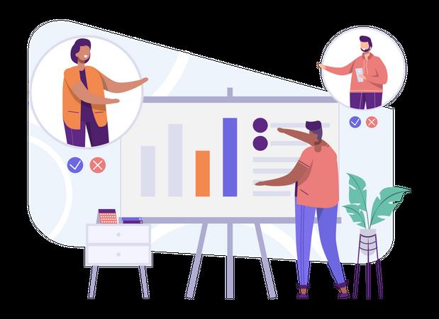 Business Presentation Call Illustration