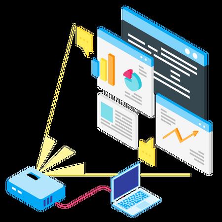 Business Presentation Projector Illustration