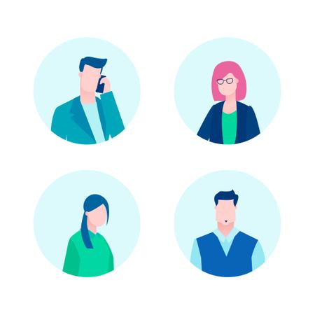 Business Profiles Illustration
