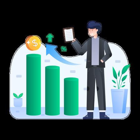 Business profit Illustration