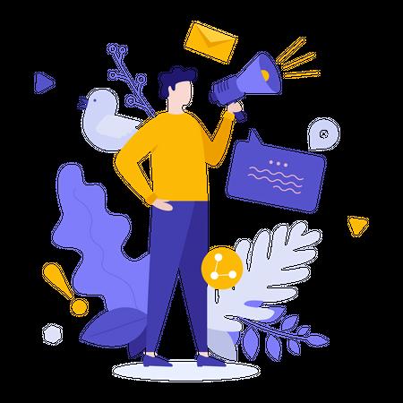 Business promotion Illustration