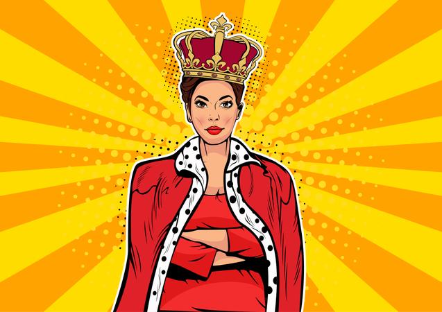 Business queen Illustration