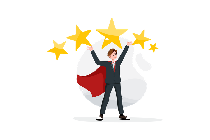 Business rating and review Illustration
