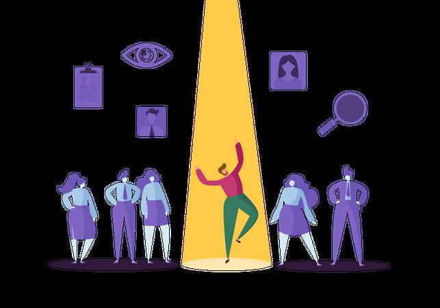 Business Recruitment Concept Illustration