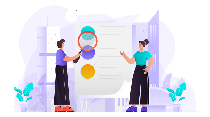 Business Recruitment Process Illustration