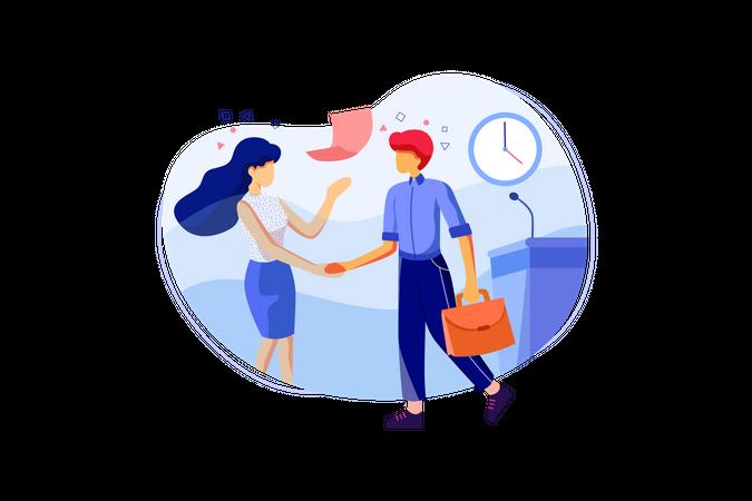 Business Relationship Illustration