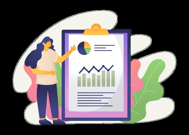 Business Report Illustration