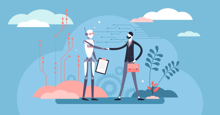 Business robot Illustration