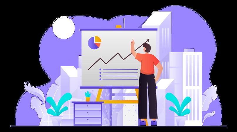 Business Sales Presentation Illustration