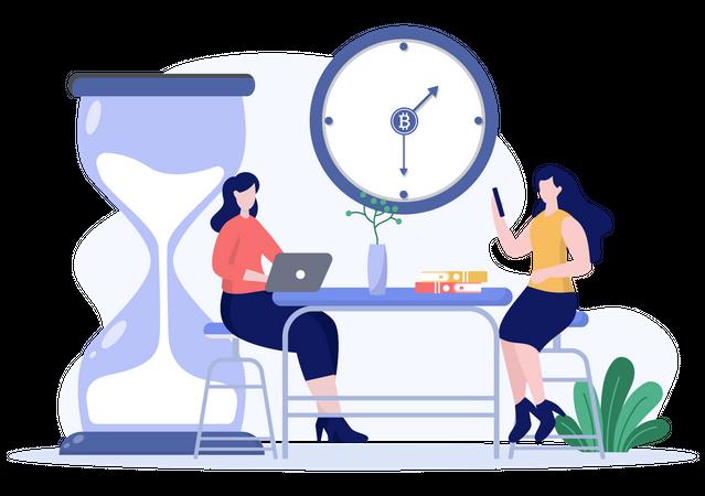 Business schedule Illustration
