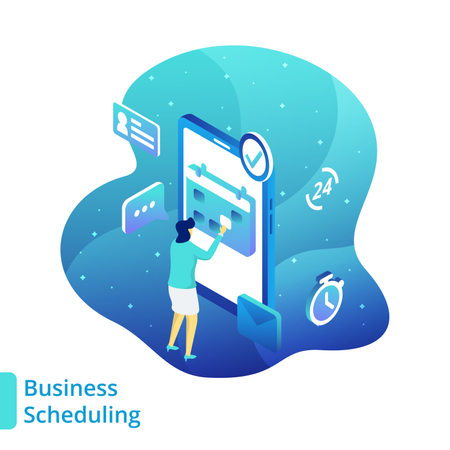 Business Scheduling Illustration
