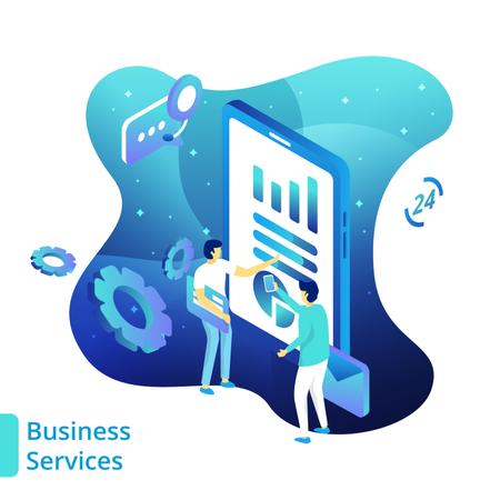 Business Services Illustration