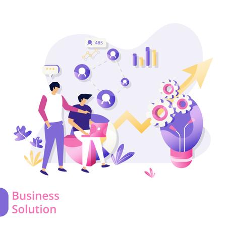 Business Solution Illustration