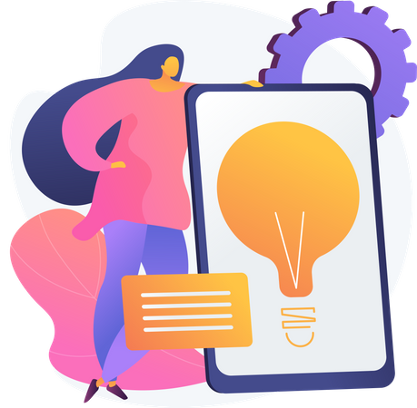 Business Solution Presentation Illustration