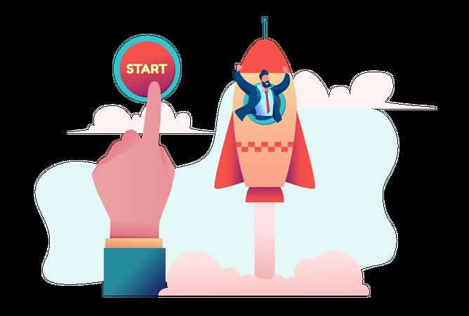 Business startup Illustration
