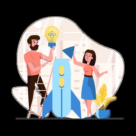 Business Startup Team Illustration