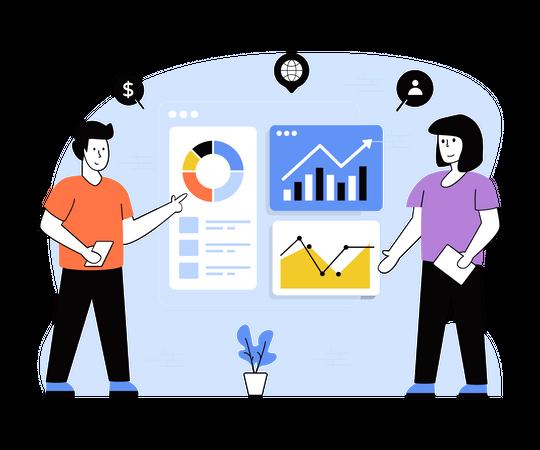 Business Statics Illustration
