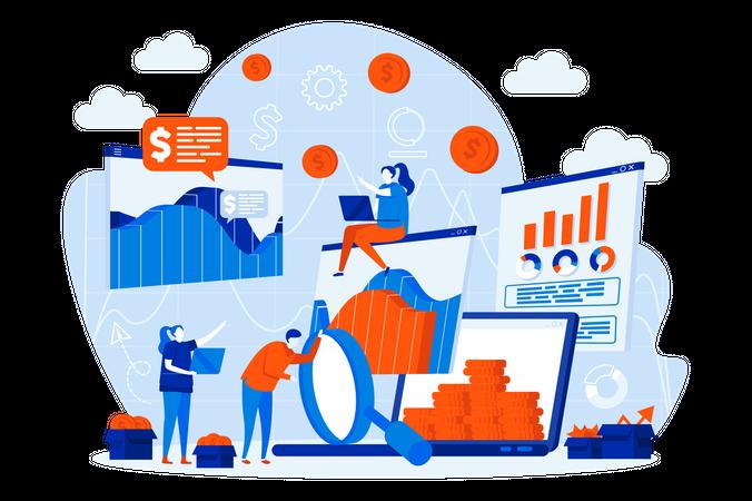 Business statistic Illustration