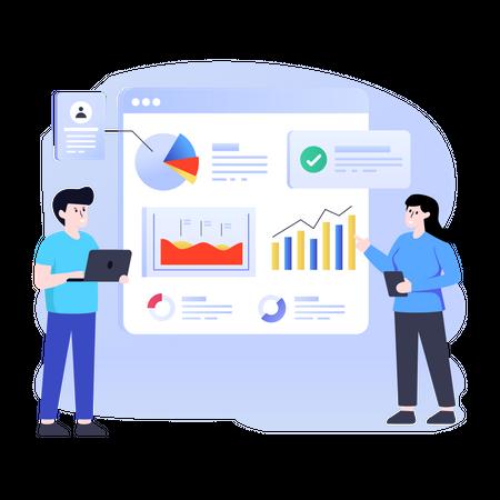 Business statistical data analysis Illustration