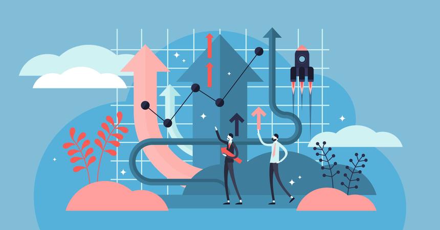 Business strategy idea Illustration