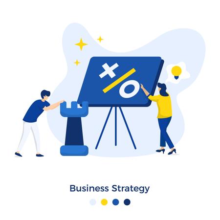 Business Strategy Illustration concept Illustration