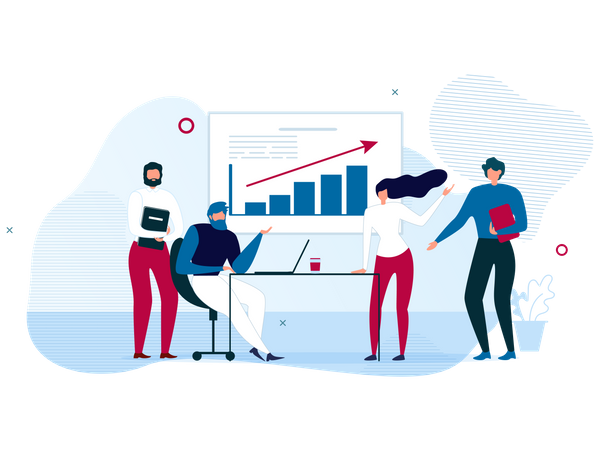 Business Strategy Landing Page for Data Analysis Illustration